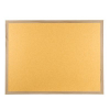 Wood framed Polycolour notice board - Caramel