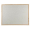 Wood framed Polycolour notice board - Light Grey
