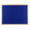 Wood framed Polycolour notice board - Oxford Blue