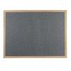 Wood framed Polycolour notice board - Slate Grey