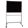 Portable felt notice board - Black