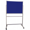 Portable Polycolour notice board - Oxford Blue