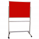 Portable Polycolour notice board - Red