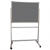 Portable Polycolour notice board - Slate Grey