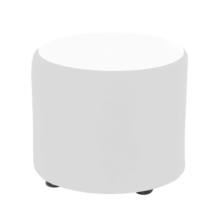 CF31 Drum coffee table hire - White