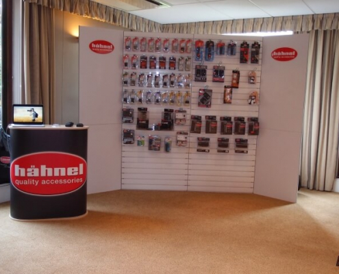 Slat-wall for display board hire