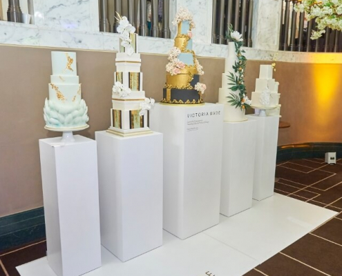 Square plinth hire for wedding event