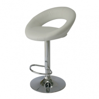 ST18 Moon bar stool hire - White