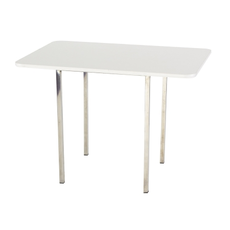 TB04 Soho medium bistro table hire - White