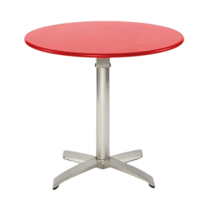 TB09 folding bistro table hire - Red