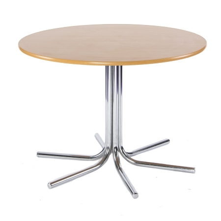TB301 Spiral round bistro table hire - Natural