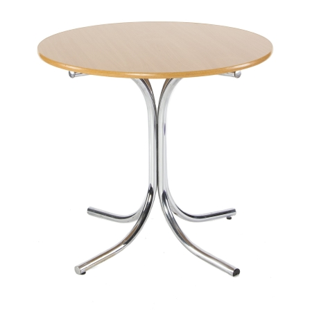 TB59 Round bistro table hire - Natural
