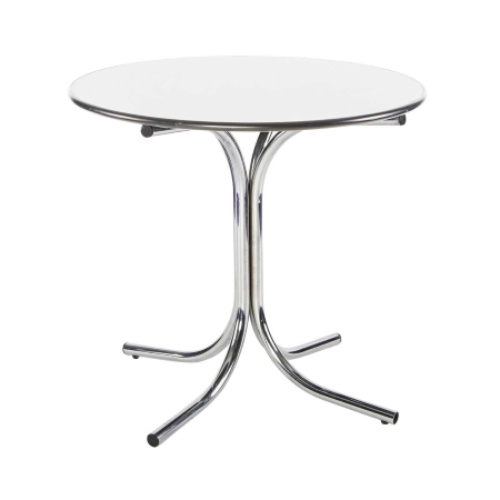 TB59 Round bistro table hire - White