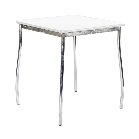 TB76 Milo bistro table hire - White