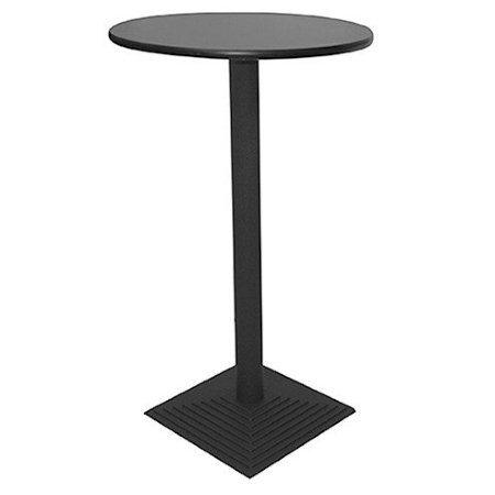 TB90 Nero bar table hire