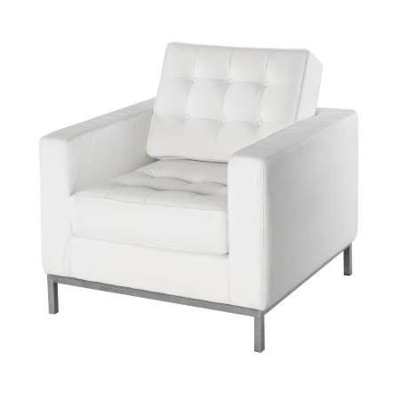 LS92 Leon armchair hire - White