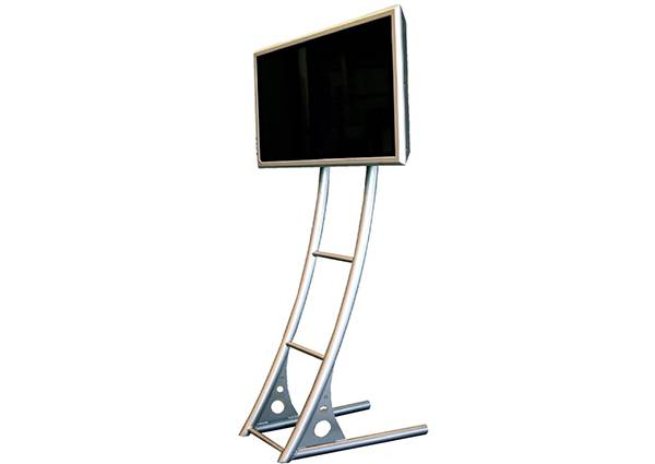 TV stand hire curved steel