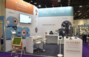 5m x 4m exhibition stand at BETT