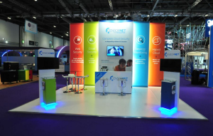 8m x 8m exhibition stand at BETT