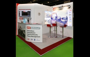 3m x 3m exhibition stand at Contamination Expo