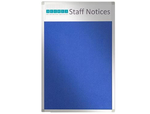 Custom felt noticeboard - Staff Notices