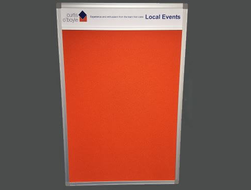 Custom Felt Noticeboard with Printed header - 2