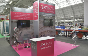 3.5m x 4m exhibition stand at Infosecurity Europe