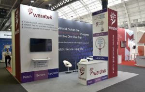 6m x 4m exhibition stand at Infosecurity Europe