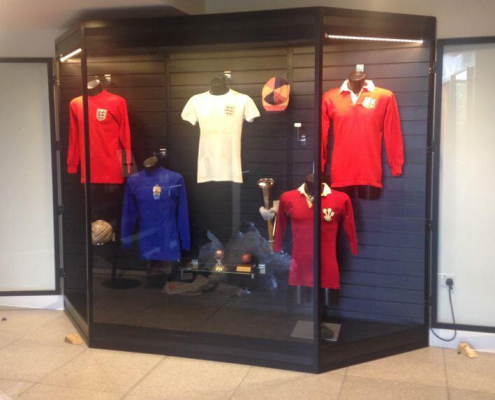 Mannequin display case - Saracens Rugby Club 2