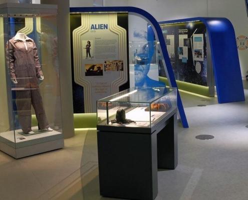 Mannequin display case for Sir Ridley Scott exhibition