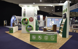 8m x 5m exhibition stand<br>National Painting and Decorating Show - 2