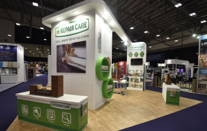 8m x 5m exhibition stand at National Painting and Decorating Show