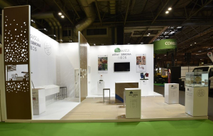 7m x 6m exhibition stand at UK Construction Week - 2