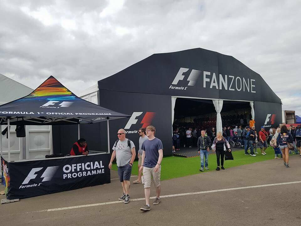 Merchandise Tent and F1 FanZone Marquee - F1 British Grand Prix