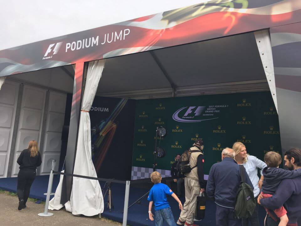 Podium Jump Marquee - F1 British Grand Prix