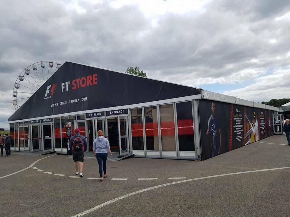 F1 Store Marquee - F1 British Grand Prix