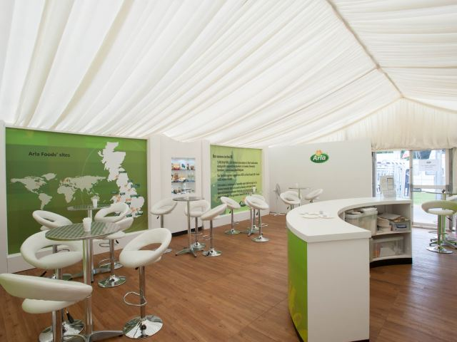 Arla Foods outdoor exhibition stand