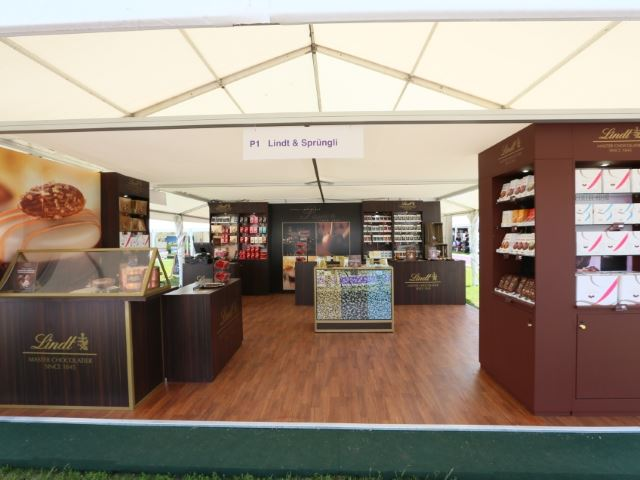 Lindt outdoor exhibition stand