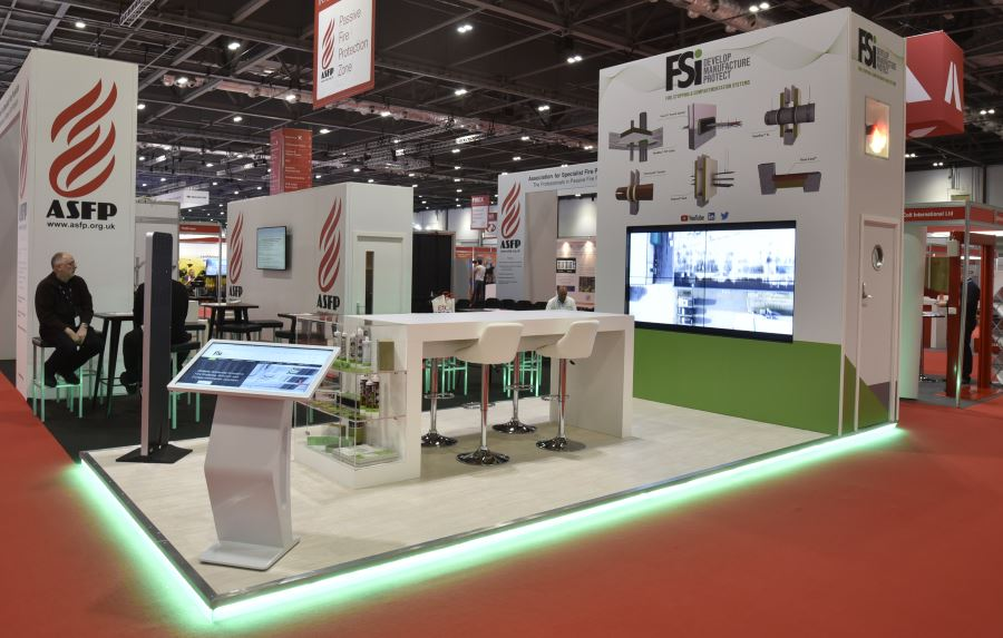 7m x 3m exhibition stand at FIREX