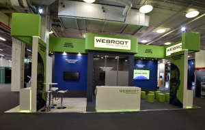 9m x 4m exhibition stand at Infosecurity