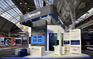 9m x 6.5m exhibition stand at Infosecurity