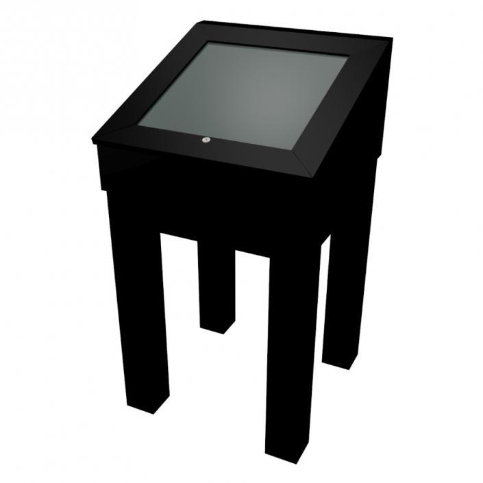 Black Laminate Wooden Glass Display Case - Design 1