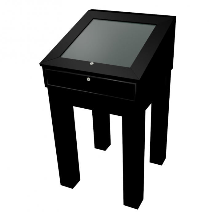 Black Laminate Wooden Glass Display Case - Design 3