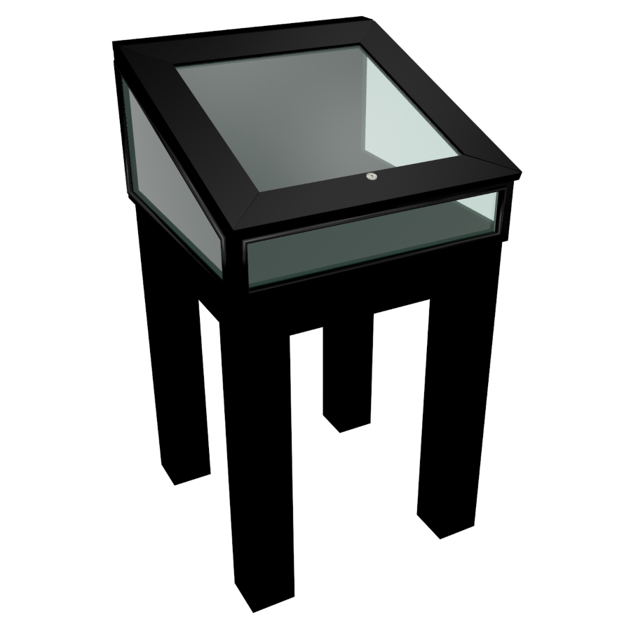 Black Laminate Wooden Glass Display Case - Design 5