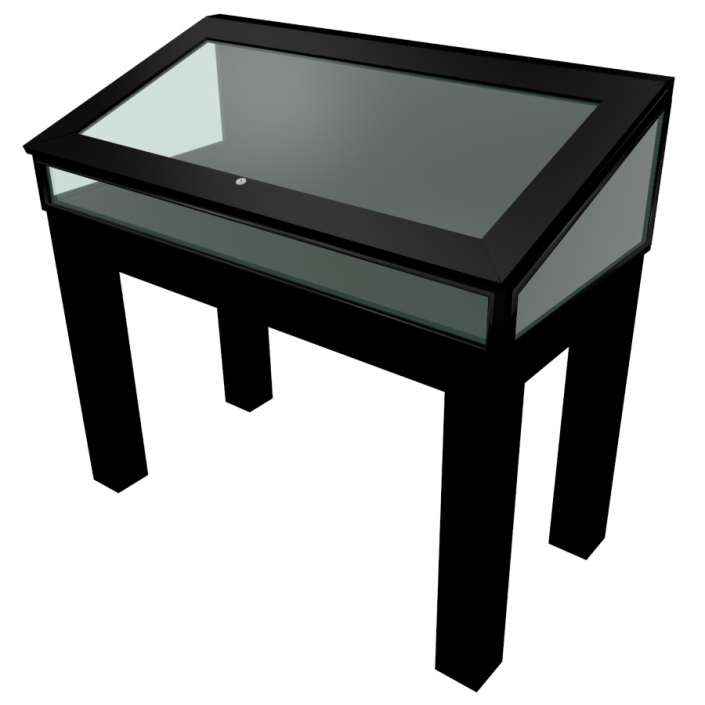 Black Laminate Wooden Glass Display Case - Design 6