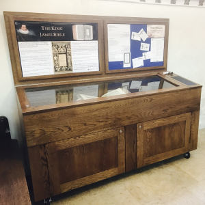 Solid oak church display case