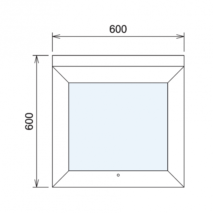 Wood Glass Display Cabinet CAD Drawing - 1