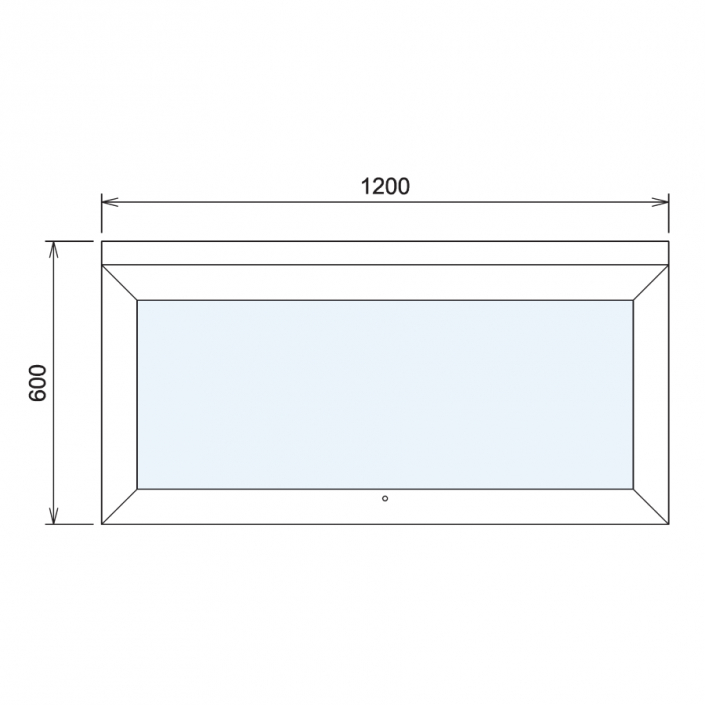 Wood Glass Display Cabinet CAD Drawing - 2
