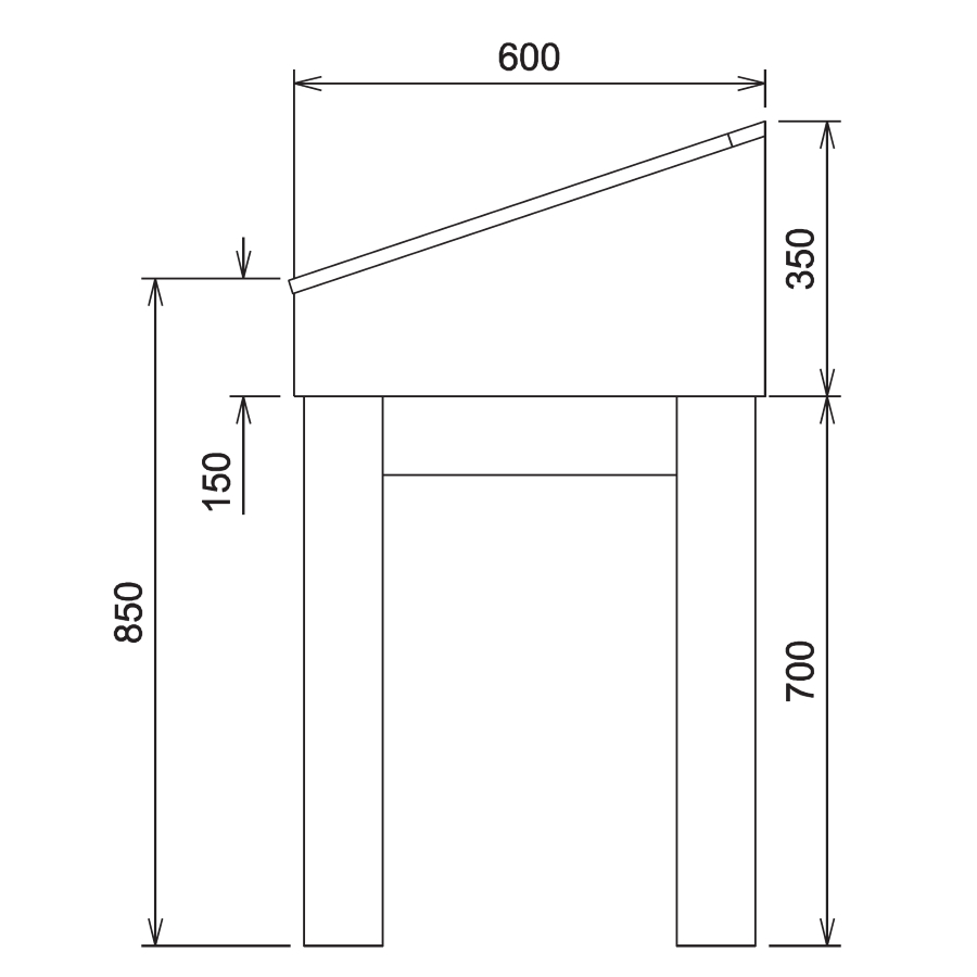 Wood Glass Display Cabinet CAD Drawing - 3