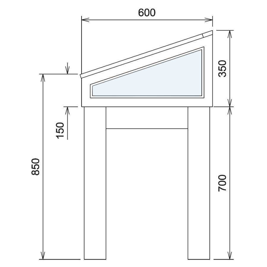 Wood Glass Display Cabinet CAD Drawing - 4